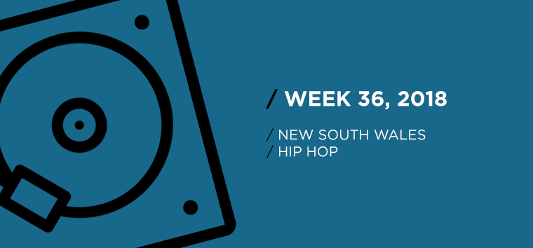 New South Wales Hip-Hop Chart for Week 36, 2018