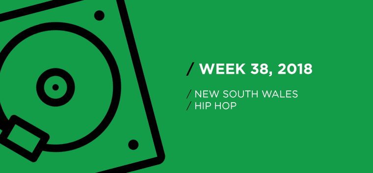 New South Wales Hip-Hop Chart for Week 38, 2018