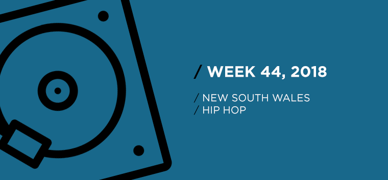 New South Wales Hip-Hop Chart for Week 44, 2018